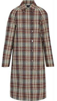 Derek Lam Plaid Canvas Trench Coat