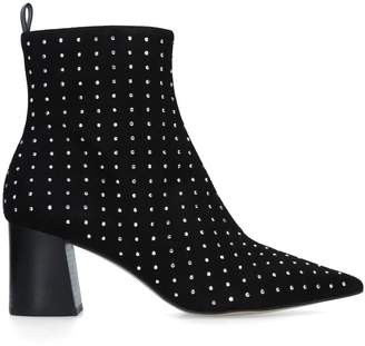 Carvela Suede Glitter Studded Ankle Boots