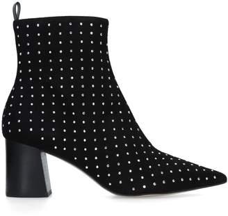 Carvela Suede Glitter Studded Ankle Boots