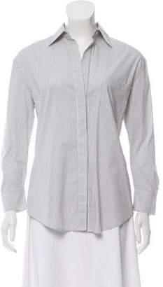 BCBGMAXAZRIA Striped Button-Up Top