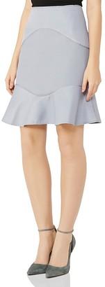 REISS Ella Mixed Texture Skirt $195 thestylecure.com