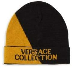 Versace Two-Tone Logo Beanie
