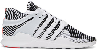 adidas Originals White & Black Equipment Support ADV PK Sneakers $150 thestylecure.com