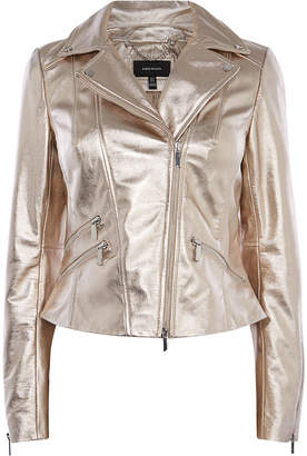 Karen Millen Gold Leather Jacket