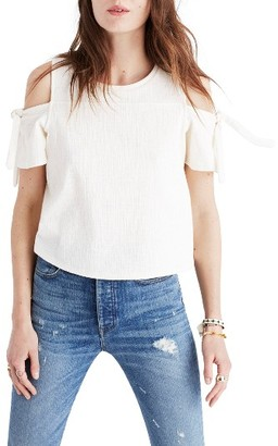Women's Madewell Skylark Cold Shoulder Top $49.50 thestylecure.com