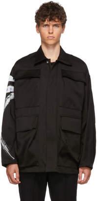 Almostblack ALMOSTBLACK Black Paint Sleeve Jacket