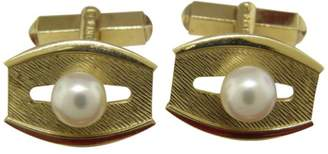 Mikimoto 14K Yellow Gold & Cultured Pearl Cufflinks