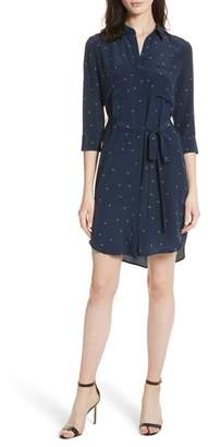L'Agence Stella Star Print Silk Shirtdress
