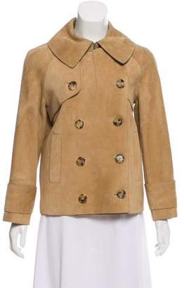 Michael Kors Suede Double-Breasted Jacket