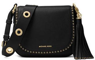 Michael Michael Kors Brooklyn Medium Leather Saddle Bag $398 thestylecure.com