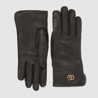 Gucci Leather gloves with DoubleG