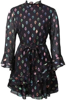 Saloni Marissa Sequin Patch Mini Dress