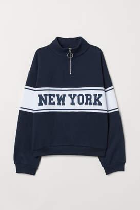 H&M Sweatshirt with Collar - Blue