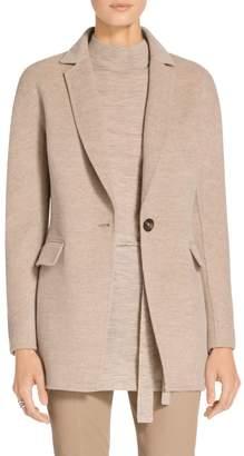 St. John Doubleface Cashmere Dolman Sleeve Jacket