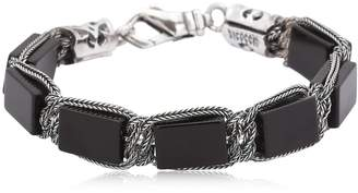 Emanuele Bicocchi Onyx & Sterling Silver Bracelet