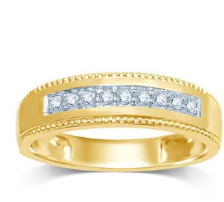 MODERN BRIDE Mens 1/5 CT. T.W. Diamond 14K Yellow Gold Band