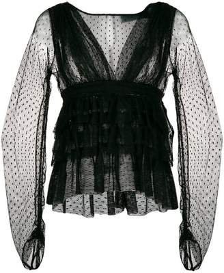Christian Pellizzari sheer blouse