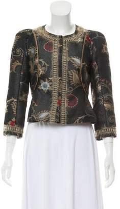 Philosophy di Alberta Ferretti Floral Print Three-Quarter Sleeve Jacket