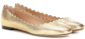 Chloé Lauren metallic leather ballerinas