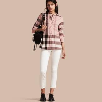 Burberry Check Cotton Tunic Shirt $350 thestylecure.com