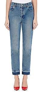 Balenciaga Women's Straight Crop Jeans - 4364-Stonewash