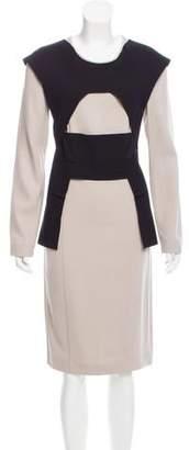 Roland Mouret Colorblock Midi Dress