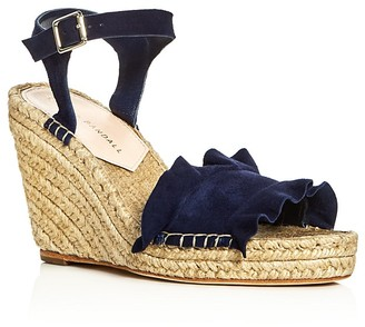 Loeffler Randall Gabby Ankle Strap Espadrille Wedge Sandals $295 thestylecure.com