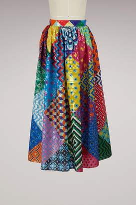 Mary Katrantzou Egret printed skirt