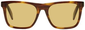 Alexander McQueen Tortoiseshell Rectangular Sunglasses
