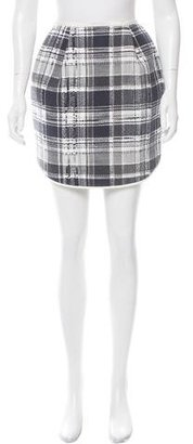 Thom Browne Plaid Tweed Skirt $300 thestylecure.com