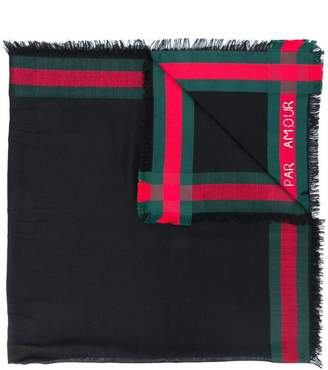 Gucci Web trim shawl