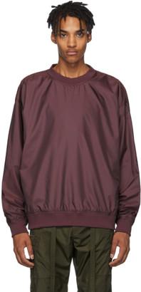 Fear Of God Burgundy Nylon Crewneck Sweatshirt