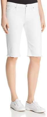Hudson Amelia Over-the-Knee Denim Shorts in Optical White