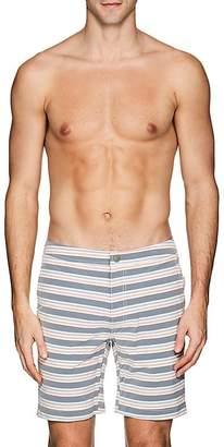 Onia Men's Calder Striped Swim Trunks