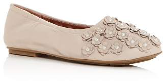 Kenneth Cole Gentle Souls by Gentle Souls Women's Portia Floral Appliqué Leather Ballet Flats
