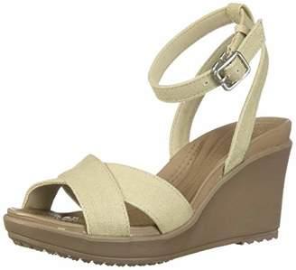 37ef2a6cc Crocs Women s Leigh Ii Cross Strap Ankle Wedge Sandal