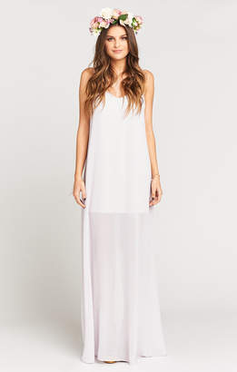 Show Me Your Mumu Jolie Maxi Dress ~ Light Lavender Chiffon