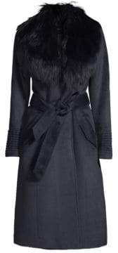 Sentaler Long Fur Collar Alpaca Coat