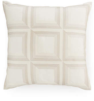 """Hotel Collection CLOSEOUT! Modern Eyelet Embroidered 18"""" Square Decorative Pillow, Created for Macy's"""