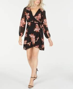 Leyden Printed Long-Sleeve Wrap Dress