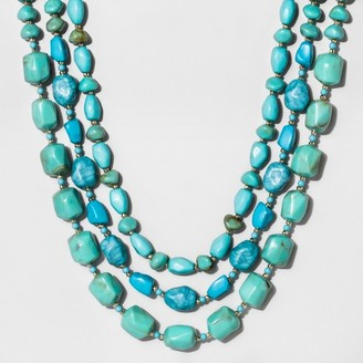 SUGARFIX by BaubleBar Beaded Layered Statement Necklace - Turquoise $19.99 thestylecure.com