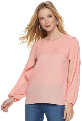 Juicy Couture Women's Layered Crepe Top
