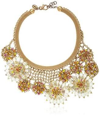Sveva Collection Statement Raggiata Crystal Sun Necklace of 24cm