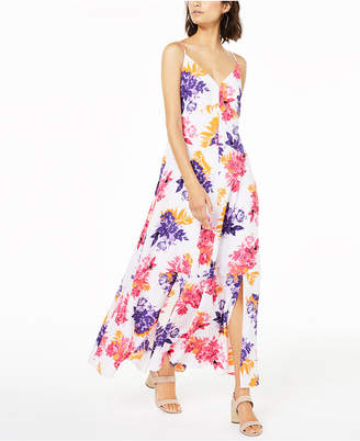 Bar III Floral-Print Maxi Dress