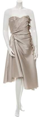 Lanvin Pleated Strapless Dress