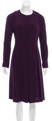 Lyn Devon Long Sleeve Midi Dress