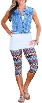 MAYAH KAY FASHION Mayah Kay Fashion Capri Leggings (One Size Fits Most)