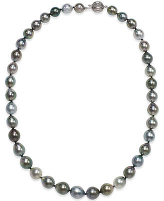 Macy's Tahitian Multicolor Pearl (8-10mm) Strand Necklace in 14k White Gold