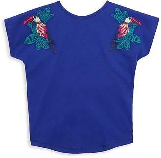 Catimini Little Girl's & Girl's Embroidered Parrot T-Shirt
