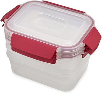 Joseph Joseph Nest Lock Compact Storage Containers - Red - Set of 3